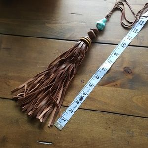 New Leather Tassle Necklace
